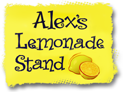 Image result for alex's lemonade stand logo