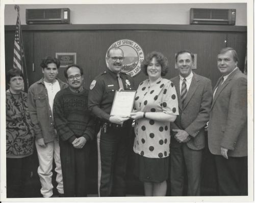 PBA 50 civilian award unknown, unknown, unknown, Oberto, Flores