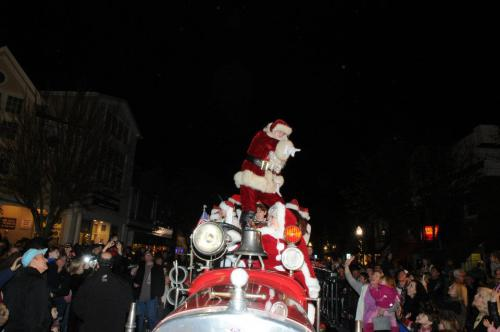 Santa Christmas Tree Lighting